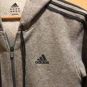 Adidas Men's Full Zip Hoodie Fleece Lining